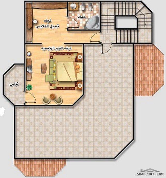 خريطة فيلا رائعه صغيرة المساحه مخطط الدور 150 متر مربع Square House Plans Family House Plans My House Plans