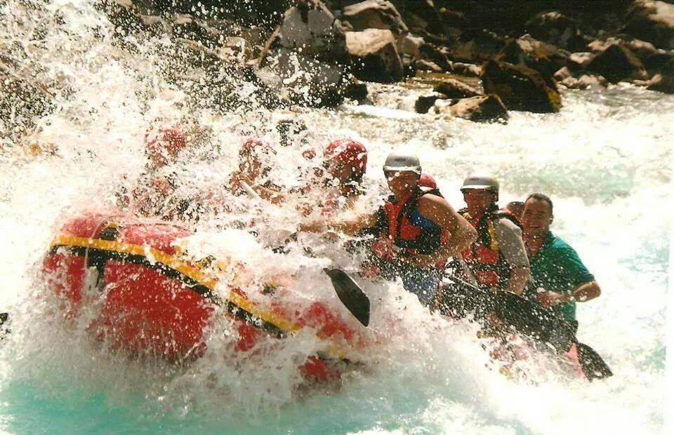 Rafting on Tara river.
