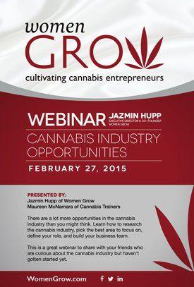 Watch Webinar: Cannabis Industry Opportunities with Jazmin Hupp of Women Grow & Maureen McNamara of Cannabis Trainers Online | Vimeo On Demand