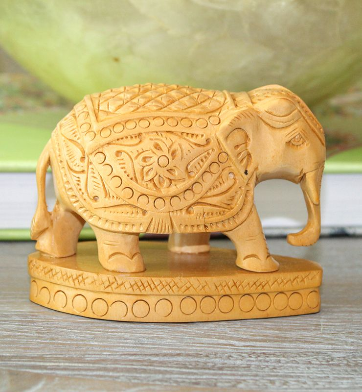 Majestic Elephant, Animal Figurine, Wooden, Gift For Him