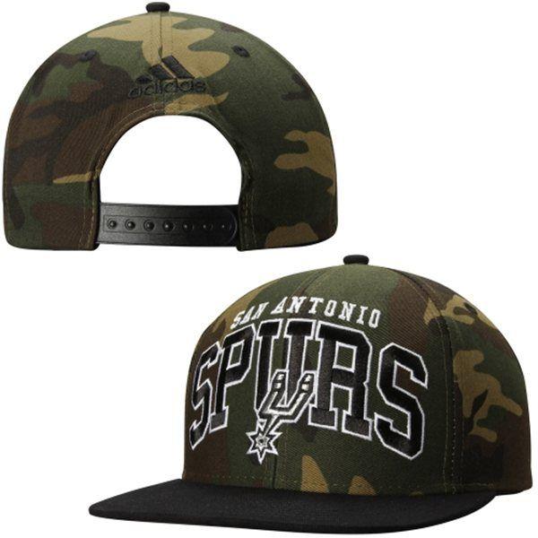 Mens San Antonio Spurs adidas Green Camo Adjustable Hat - NBA Store bdec393381e