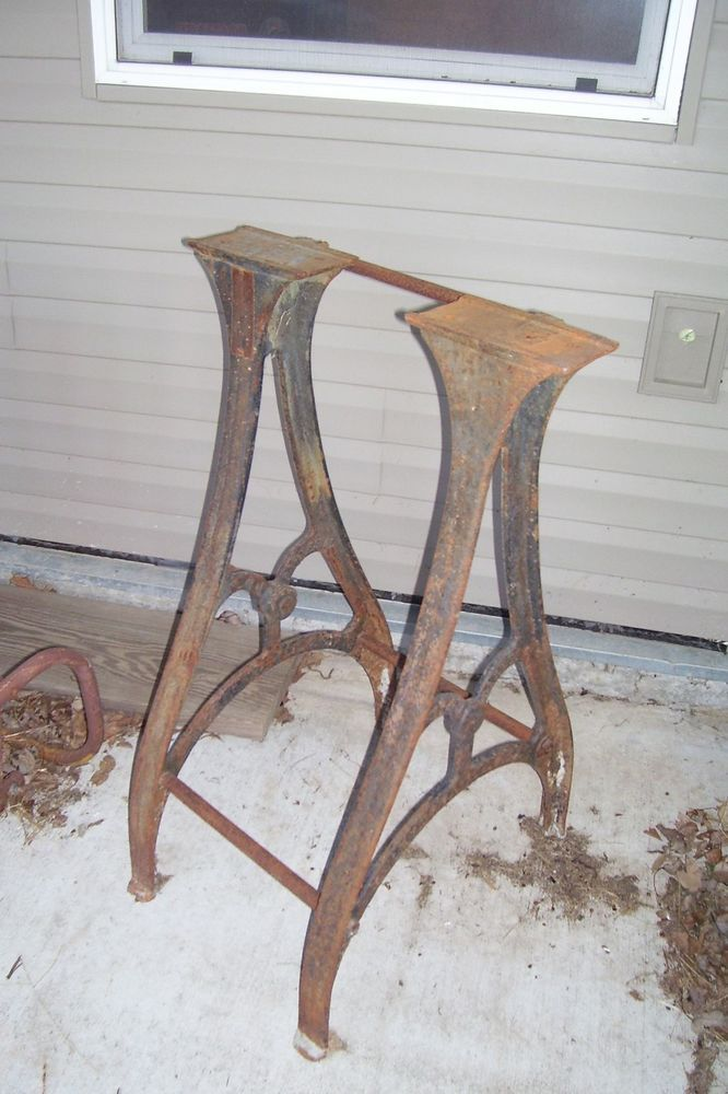 Cast Iron Machine Legs Tool Table Base Vintage Stand Steam Punk
