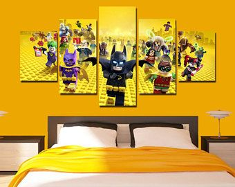 LEGO Batman Leinwand Art Lego Batman Poster Film Druck 5 Panel Hause Kunst  Wand Dekor Wand
