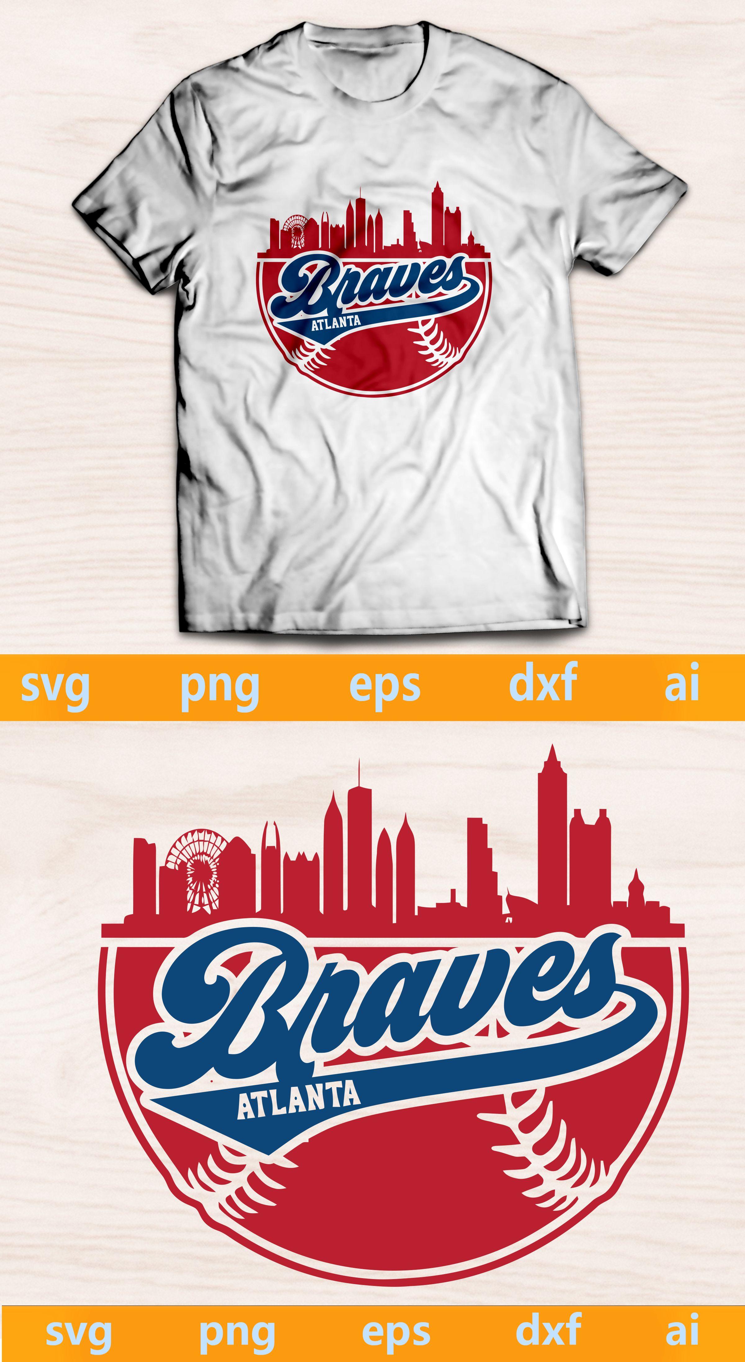 Braves Svg Braves Ai Braves Png Braves Eps Braves Dxf Braves Silhouette Atlanta Braves Svg Braves Baseball Skyline Baseball Team Svg In 2020 Atlanta Braves Braves Baseball Braves