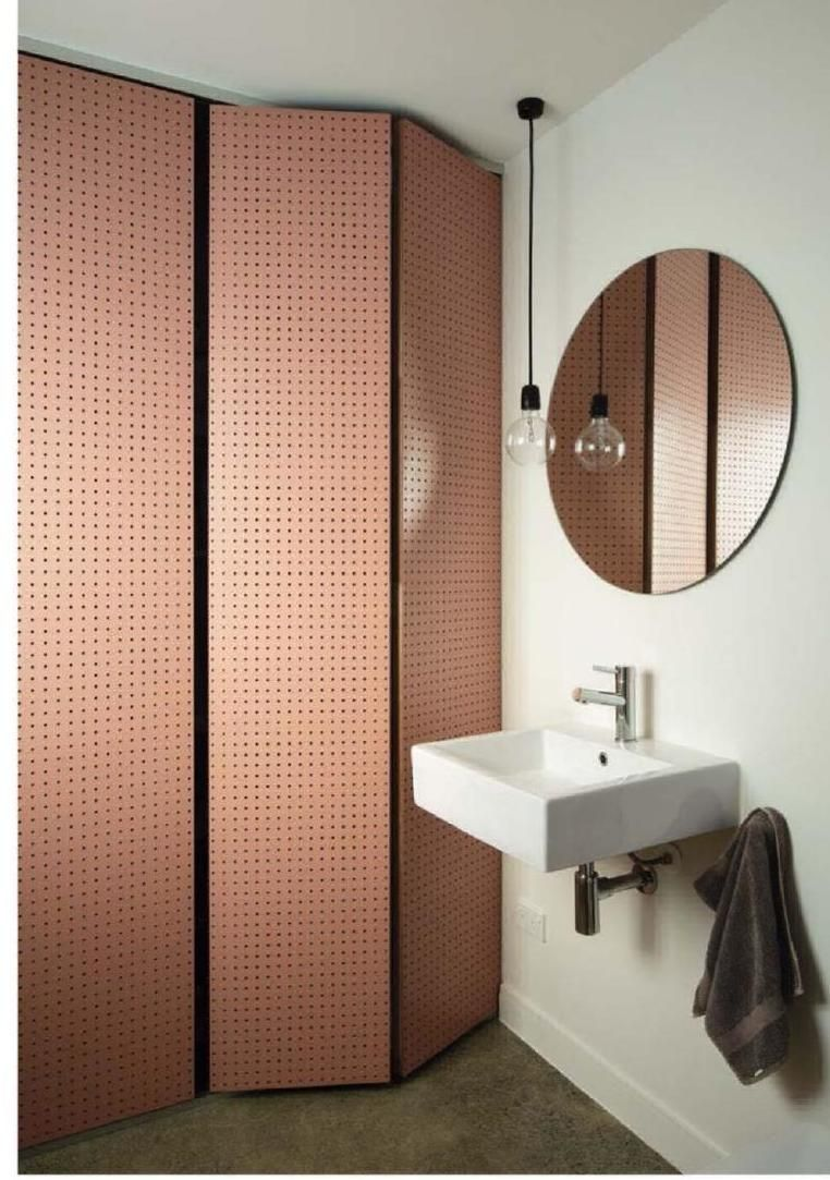 Trennwand Wc Bad Entry Rest Room Bath Wc Idea Minimalist Copper Mirror Love