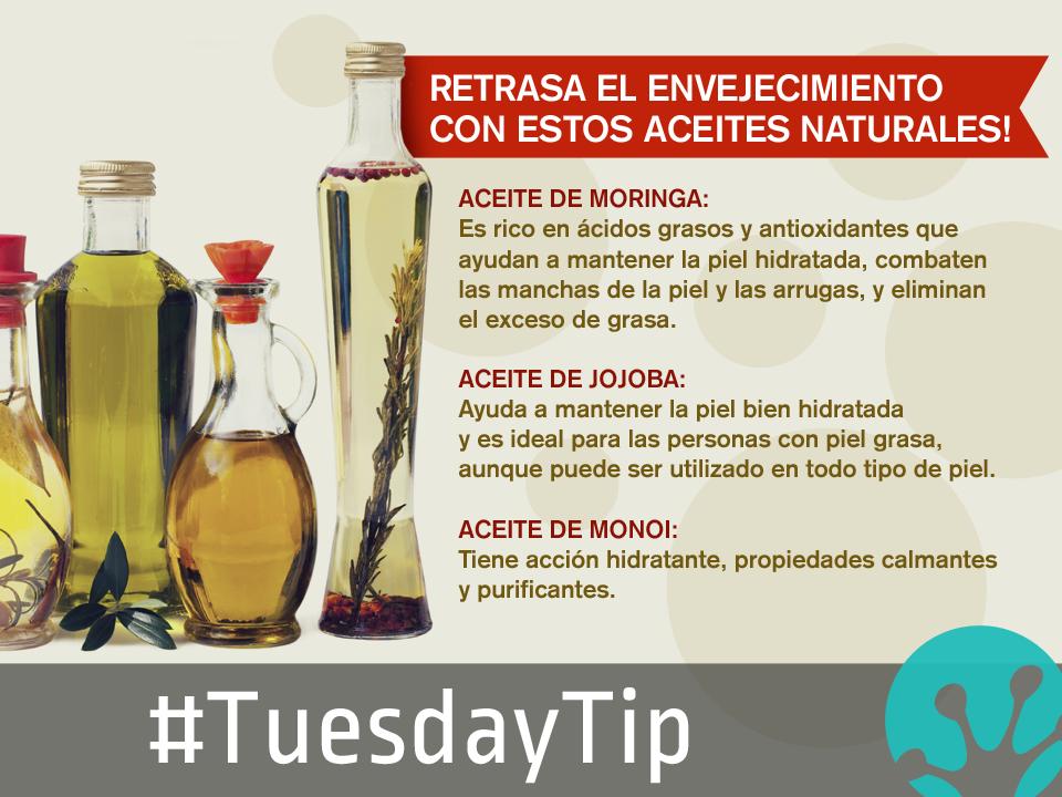 Con estos aceites naturales, recomendados por nuestra +Dra. Reina Lamardo  , podrás embellecer tu piel y disfrutar de una piel fresca, suave y saludable! No olvides compartir > http://goo.gl/Zer43W #TuesdayTip   #SanaSana   #SanaSanaFamily