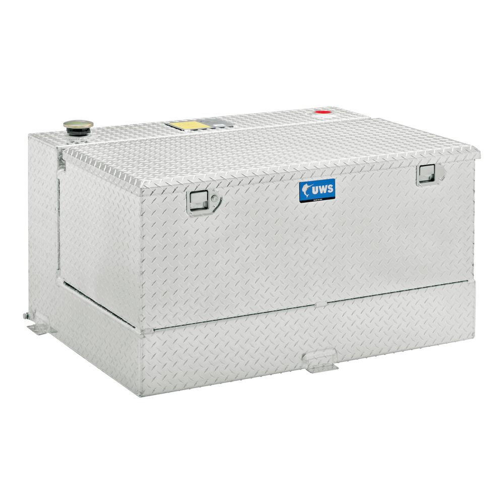 Uws 75 Gal Aluminum L Shape And Chest Transfer Tank Combo Tt 75 Combo Truck Storage Box Truck Storage Truck Bed