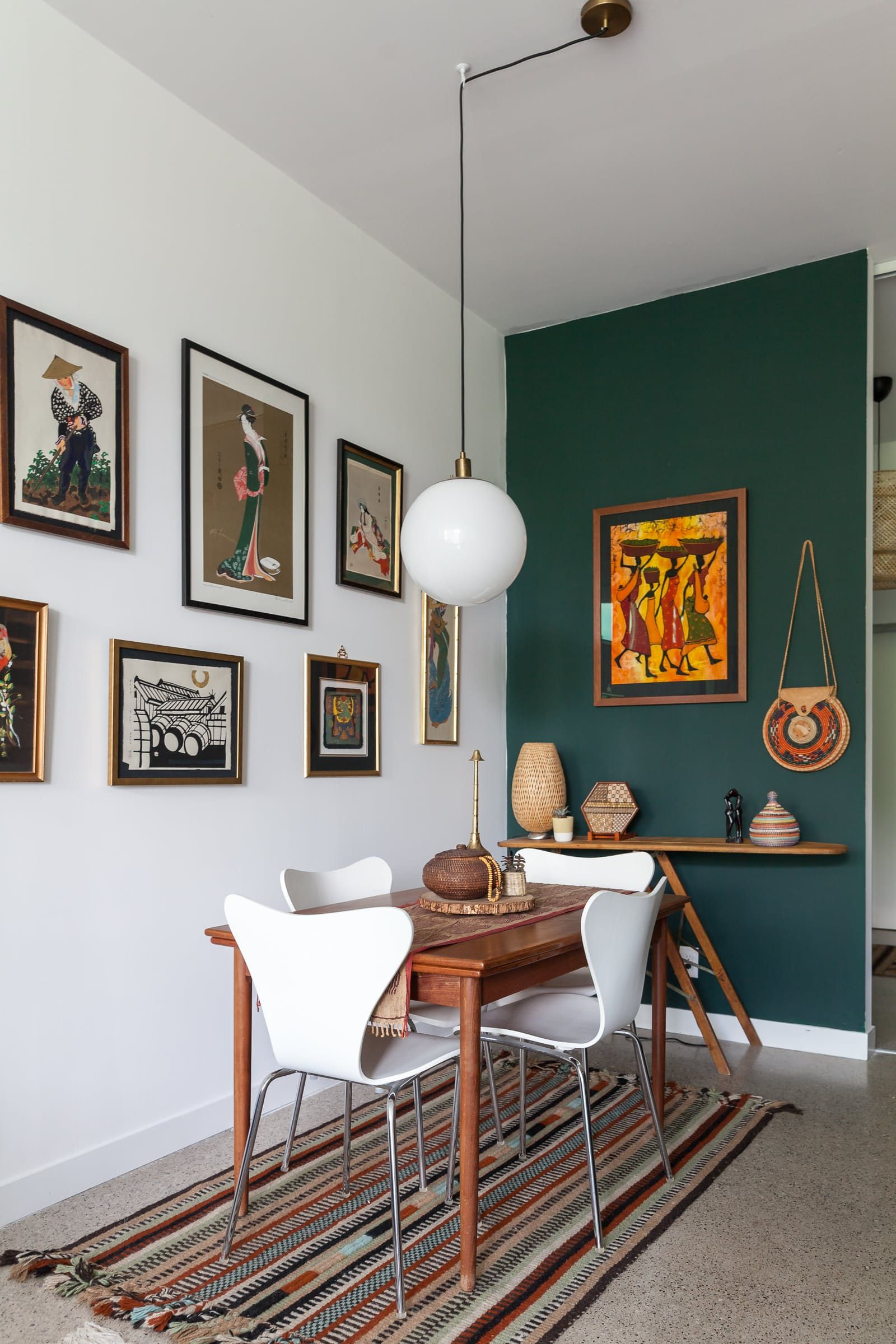 Get The Look Mid Century Global Eclecticism Dining Room Design Toronto Apartment Eclectic Chairs