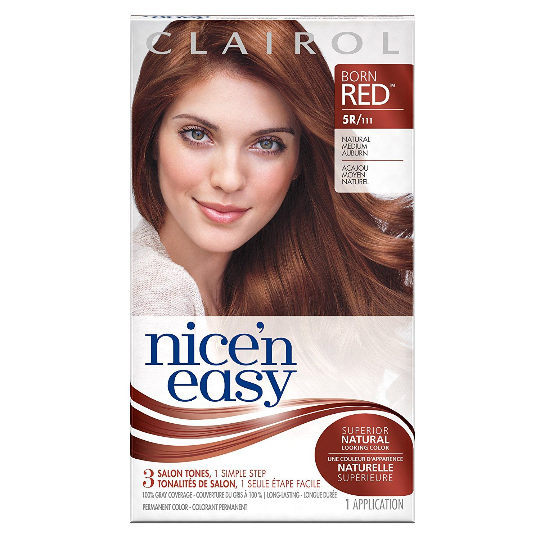 Nice uN Easy Permanent Hair Color R Natural Medium Auburn Kit