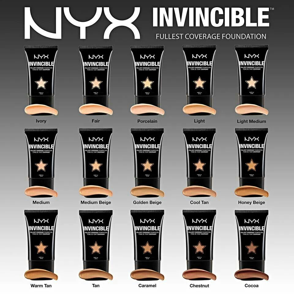 NYX Foundation line - possibly a golden beige here...