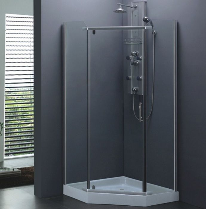 Douchecabine Vijfhoek 90x90.Lambini Designs Matta Douchecabine Glans Chroom 90x90cm