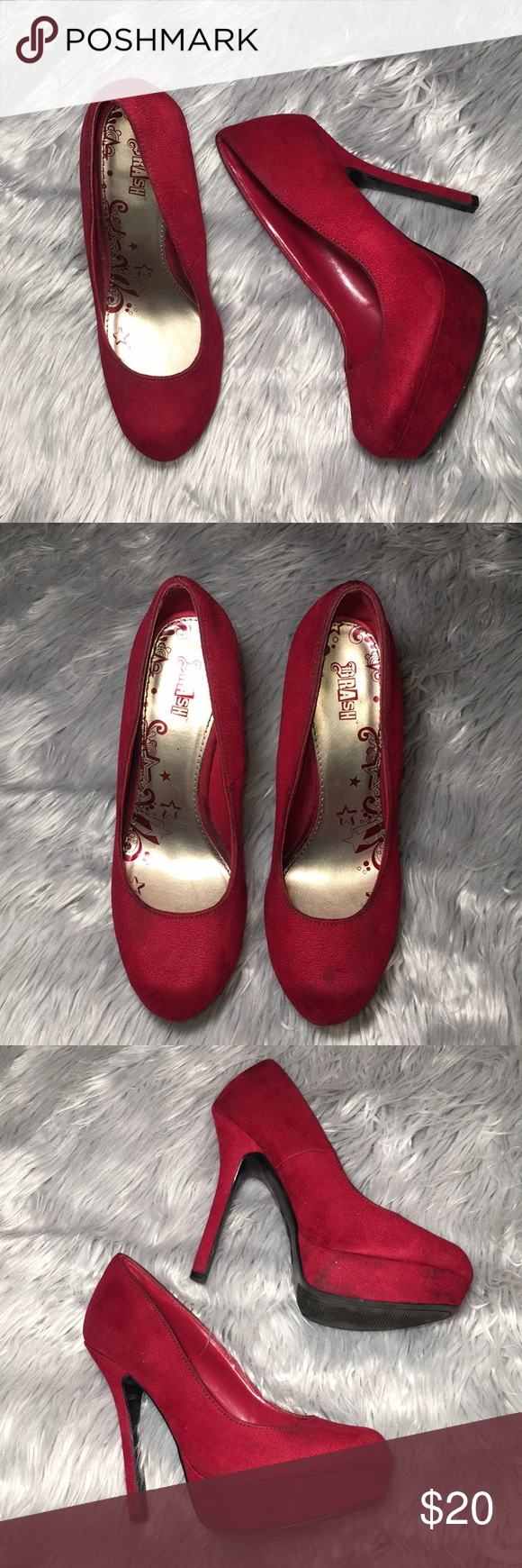 2898399b642 Brash Shoes | Brash Red Pumps Sz 8 | Color: Red | Size: 8 in 2019 ...