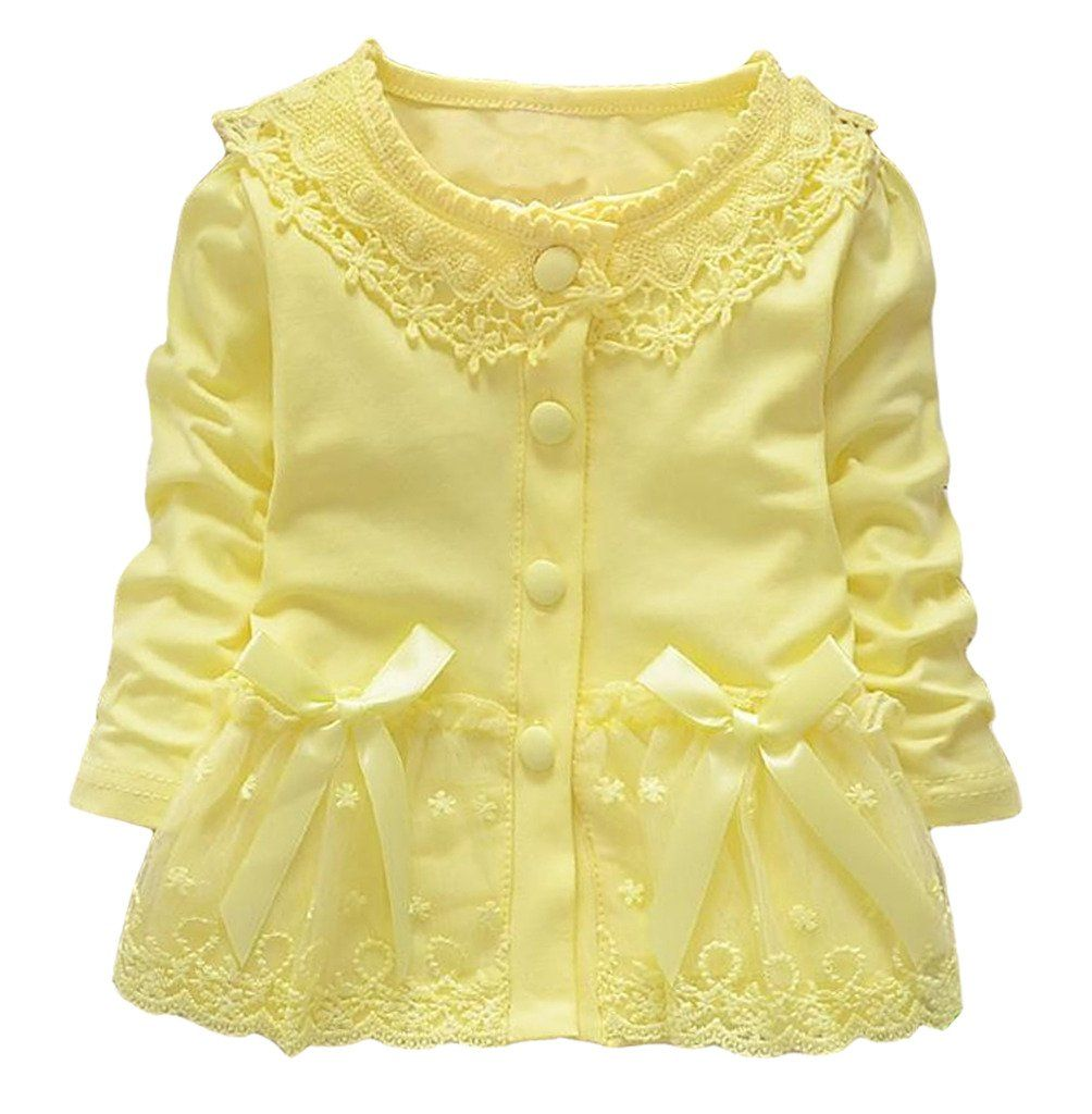 Baby Girls Princess Cardigan Clothes Lace Coat Jackets12-18Months ...
