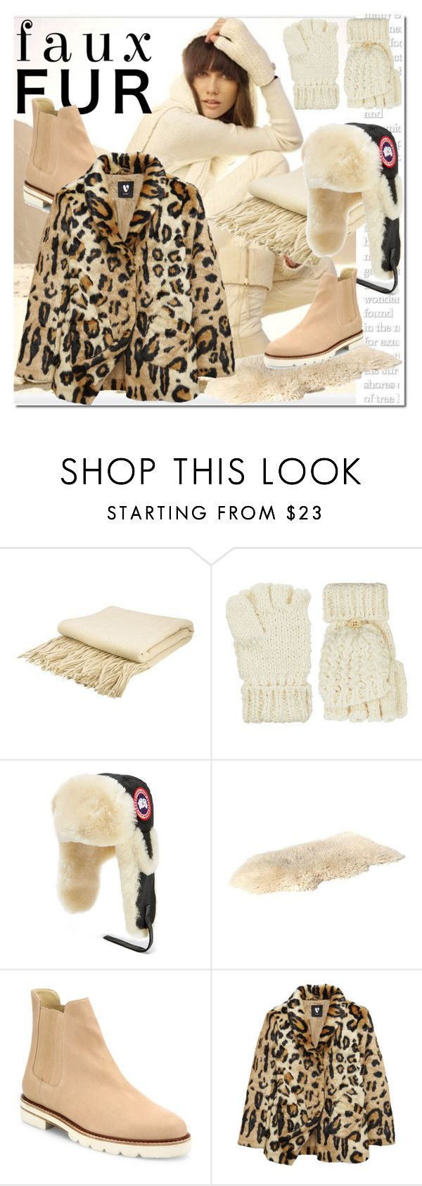 """Faux Fur Coats"" by ilona-828 ❤ liked on Polyvore featuring Home Decorators Collection, Accessorize, Canada Goose, Stuart Weitzman, polyvoreeditorial and fauxfurcoats"