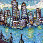 Boston Harbor Poster by Jason Gluskin