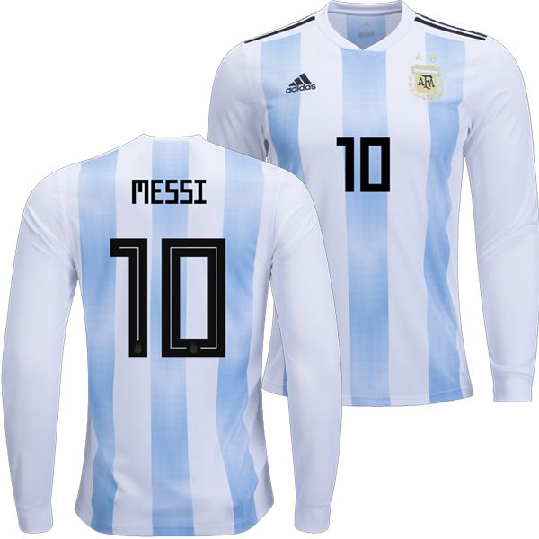 88814ca93eb 2018 Argentina World Cup Home Authentic LS Jersey Shirt 10 Lionel Messi