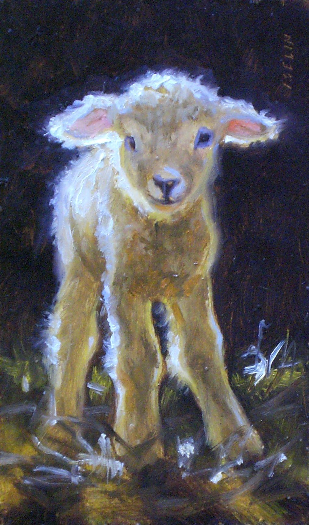 "Wobbly but Willing"" Lamb | Sheep paintings, Sheep art, Prophetic art"