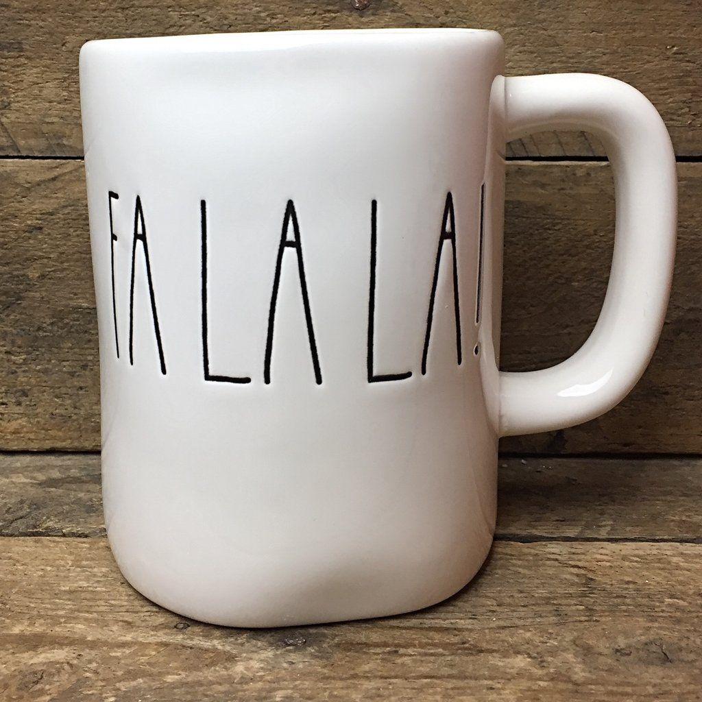 rae dunn fa la la! coffee mug magenta | kitchen | products i love