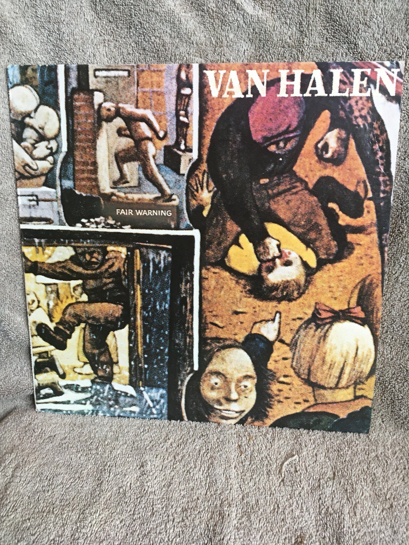 Van Halen Fair Warning Lp Warner Brothers Records Van Halen Fair Warning Van Halen Halen