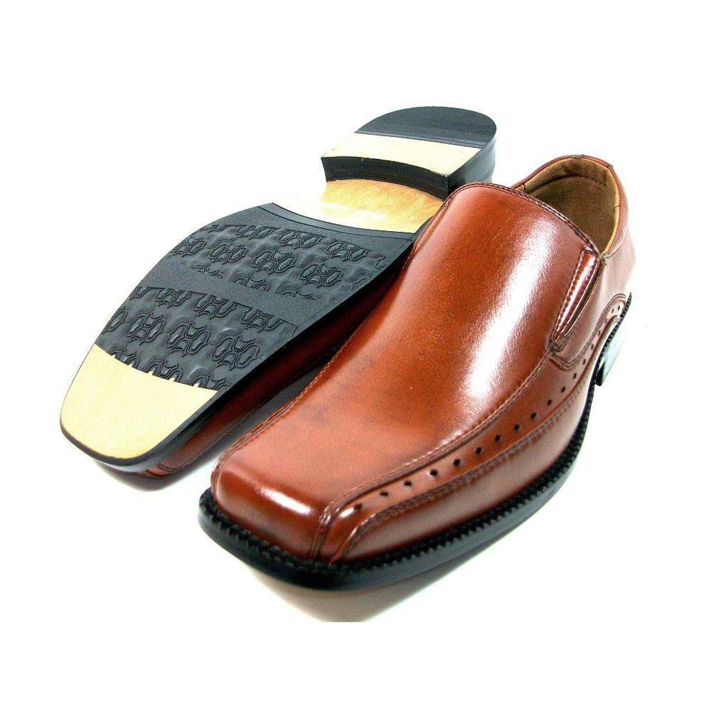 Overstock mens leather gloves - Delli Aldo Mens Slip On Square Toe Loafers Overstock Com