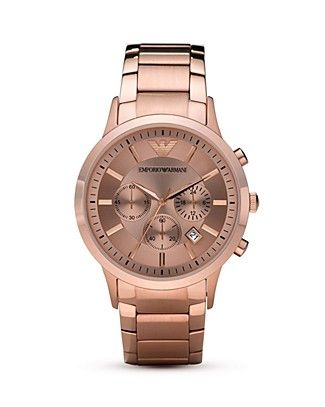 9c2f7cfd3f1a1 Emporio Armani Sport Rose Gold Plated Watch, 43mm PRICE: $445.00 ...