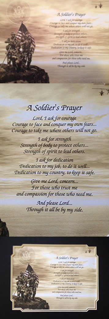 Army Soldiers Prayer Gift For Birthday Veterans Day Fathers Husband Son Dad Military
