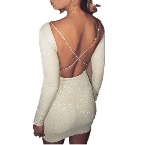Kleid damen Kolylong® Frauen Elegant Rückenfreies Kleid Vinatge ...