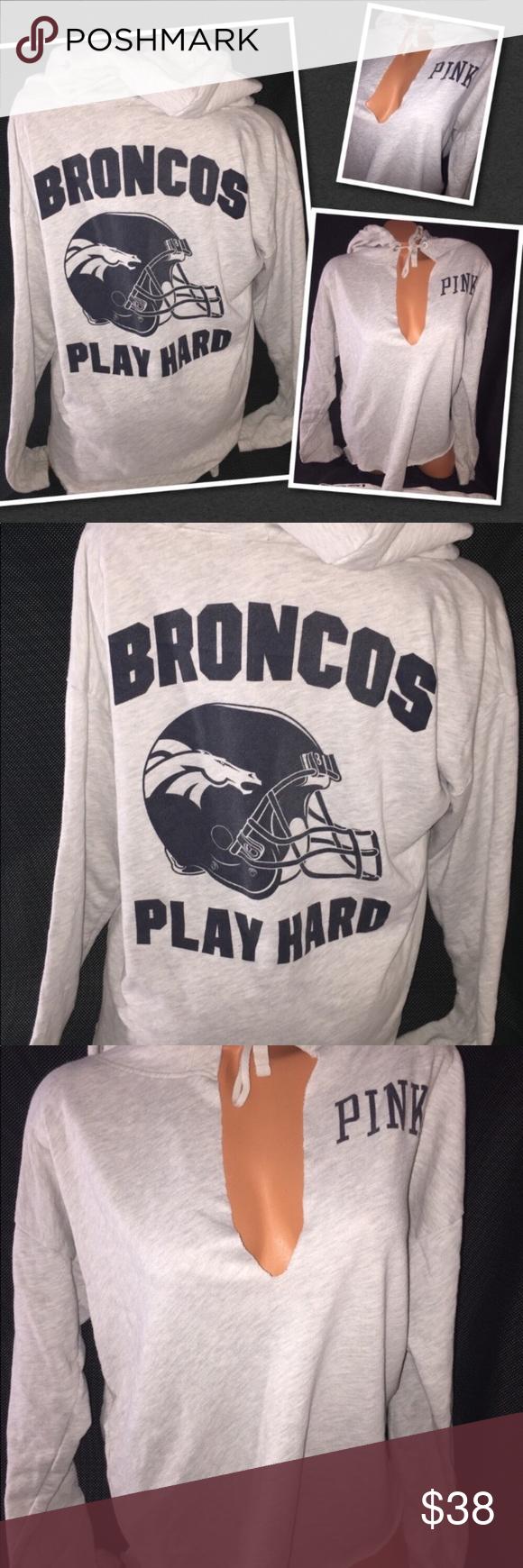 VS PINK BRONCOS Oversized sweatshirt LARGE Oversized