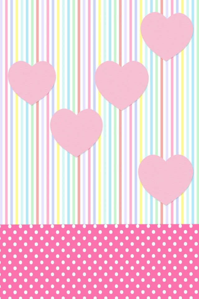 Hearts and stripes   Paper   Pinterest   Pastel pink, Wallpaper ...