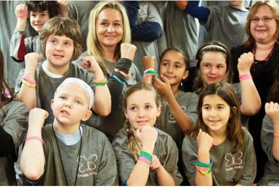 Cancer Fundraiser: We don't know which is more impressive - that a class of 10-year-olds raised $1,400 for classmate Jadyn Schill who has a brain tumor from cancer, and slated for brain surgery - or that Jadyn chose instead to donate the money to cancer research?