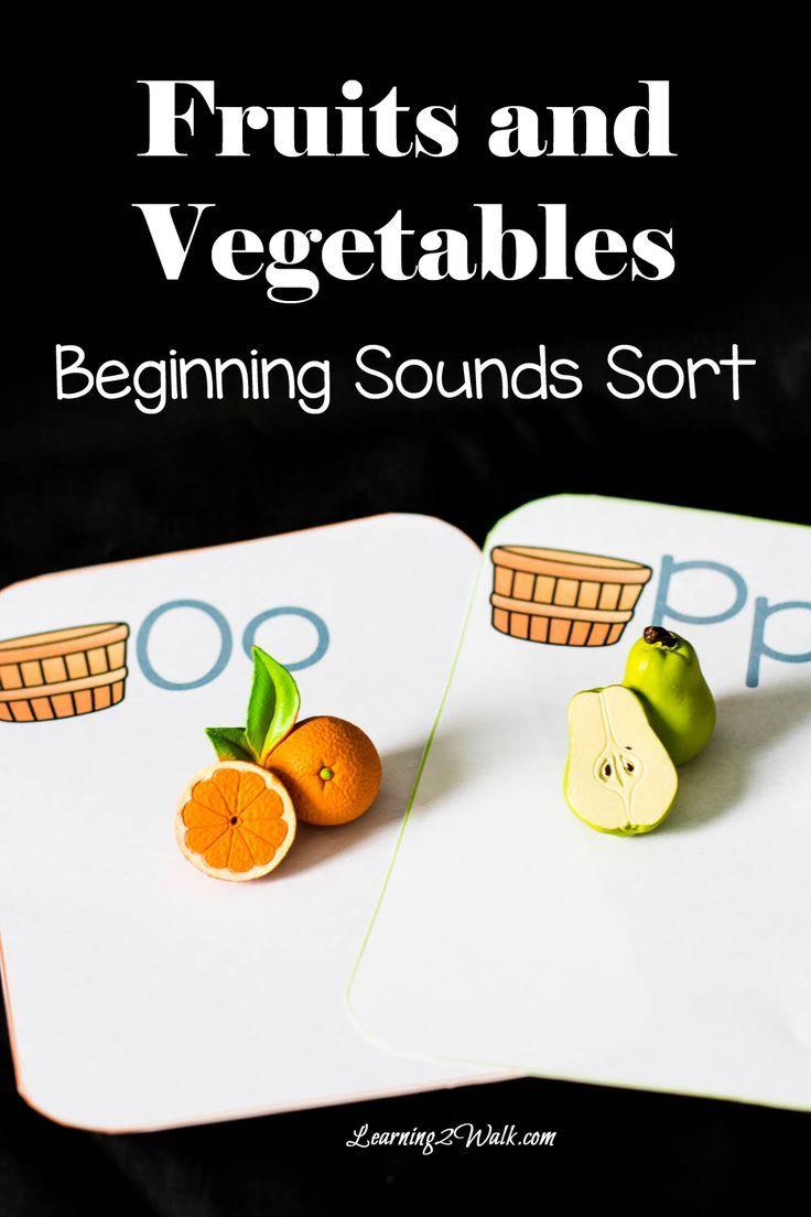 fruits and vegetables beginning sounds sort activities homeschool and worksheets. Black Bedroom Furniture Sets. Home Design Ideas