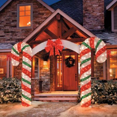Lighted Candy Cane Arch Christmas Decorations Diy Outdoor Christmas Yard Decorations Beautiful Christmas Decorations