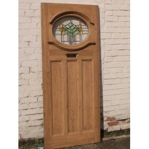 1930\u0027s Stained Glass Doors  1930\u0027s Art Deco Original Exterior Door in Green and Amber - also Addtional Side Panel  sc 1 st  Pinterest & 1930\u0027s Art Deco Original Exterior Door in Green and Amber - also ...