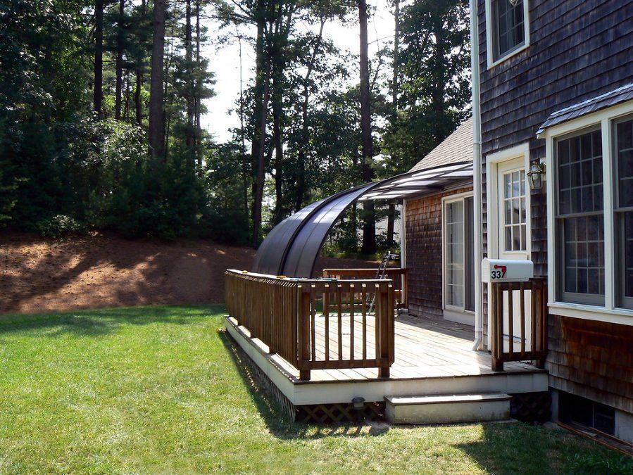 Summer Atmosphere Under Retractable Patio Enclosure Corso Entry Attached To A House Patio Enclosures Patio Pool Enclosures