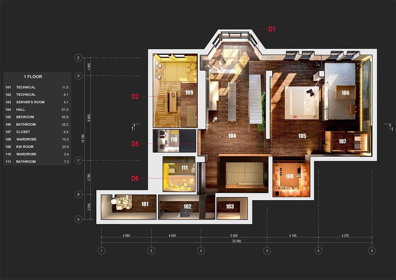 perspective plan   ukranian loft