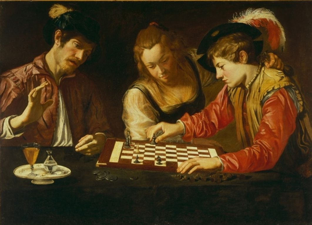 Resultado de imagen de ajedrez caravaggio