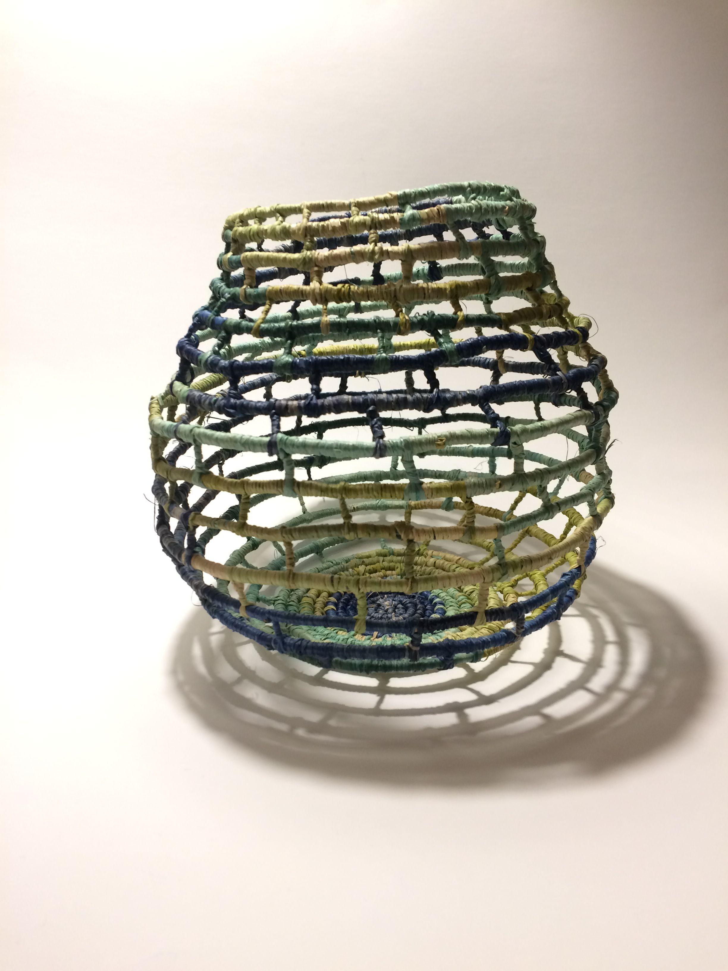 Corey Bishop Coiled Raffia Basket Contemporary Baskets Coiled Baskets Basket Weaving