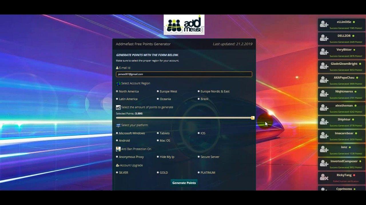 Addmefast Free Points Online Generator 2019 Generation Point Hacks Online