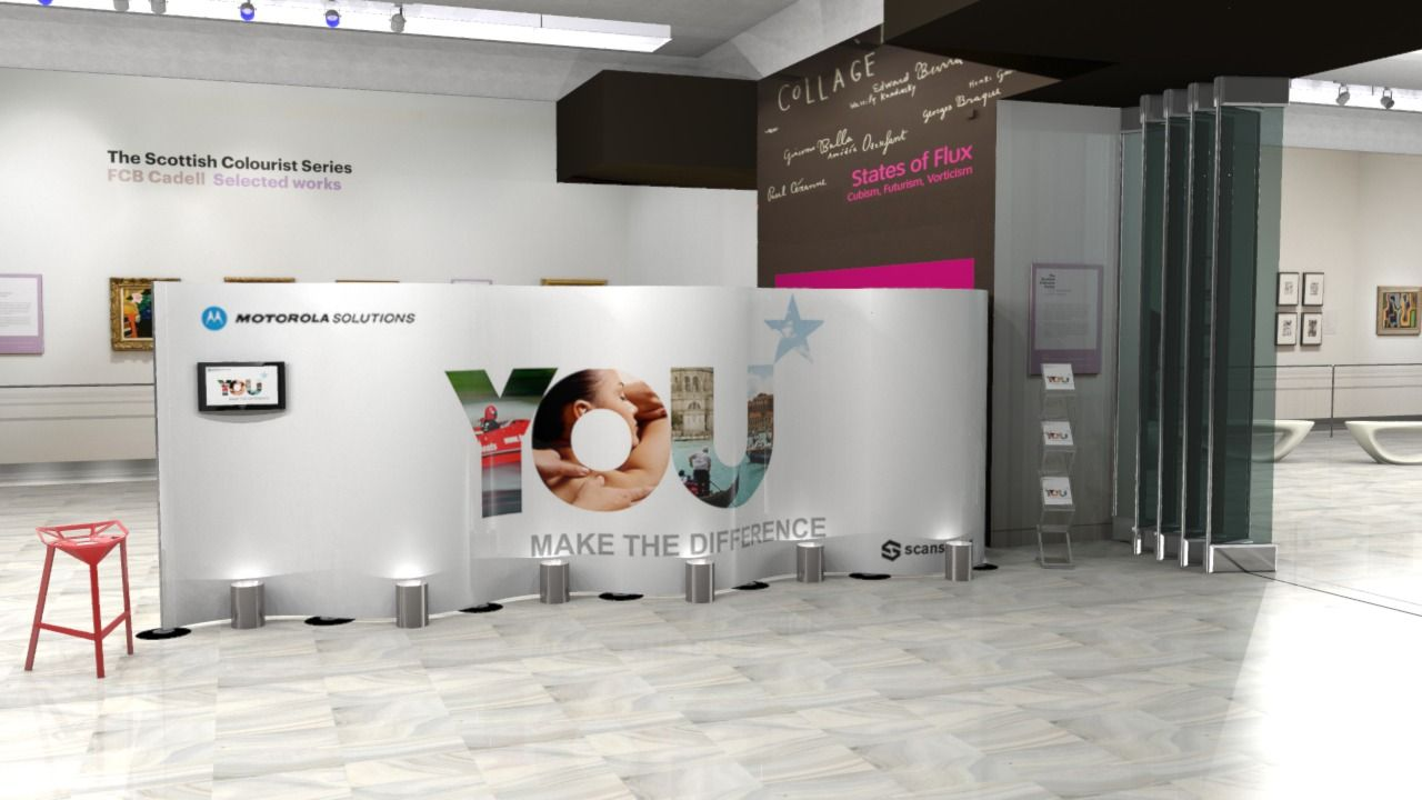 Exhibition Stand Visualisation : Gallery interior 3d visualisation by dupont latour 3d