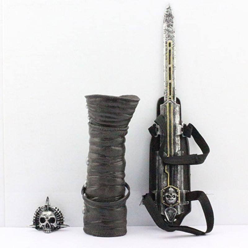 NECA Assassins Creed 4 Four Black Flag Pirate Hidden Blade Edward Kenway Sharp Dresser Cosplay Toy