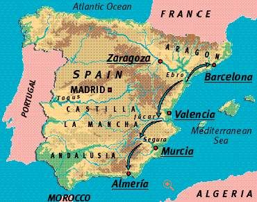 Map Of Spain Ebro River.Basic Grade 11 This Map Shows The Ebro River Located In