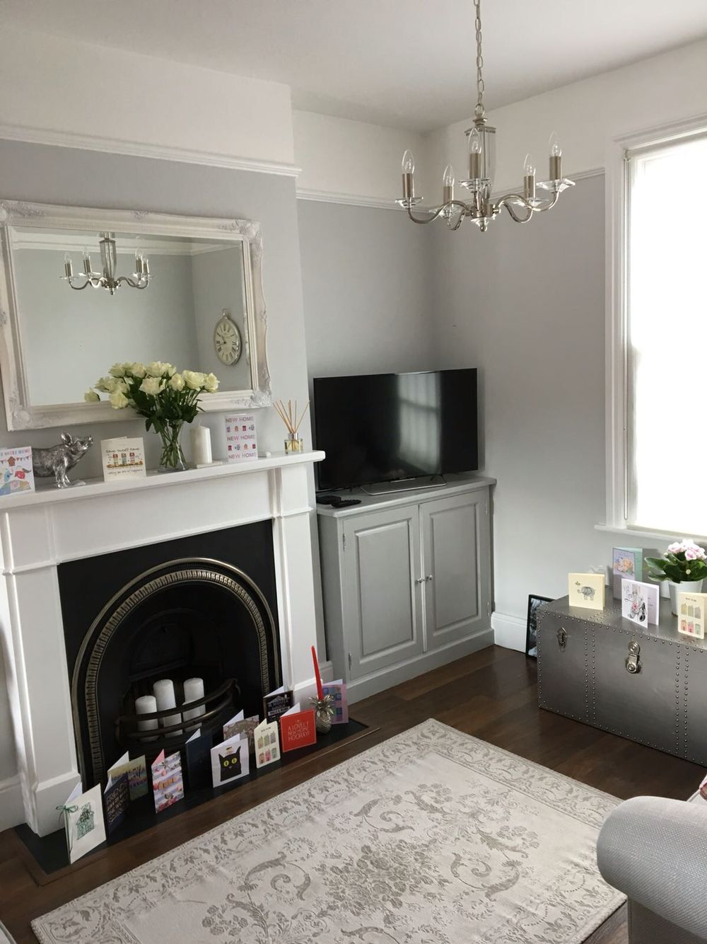 Laura ashley victorian terrace grey living room living for Victorian terrace dining room ideas