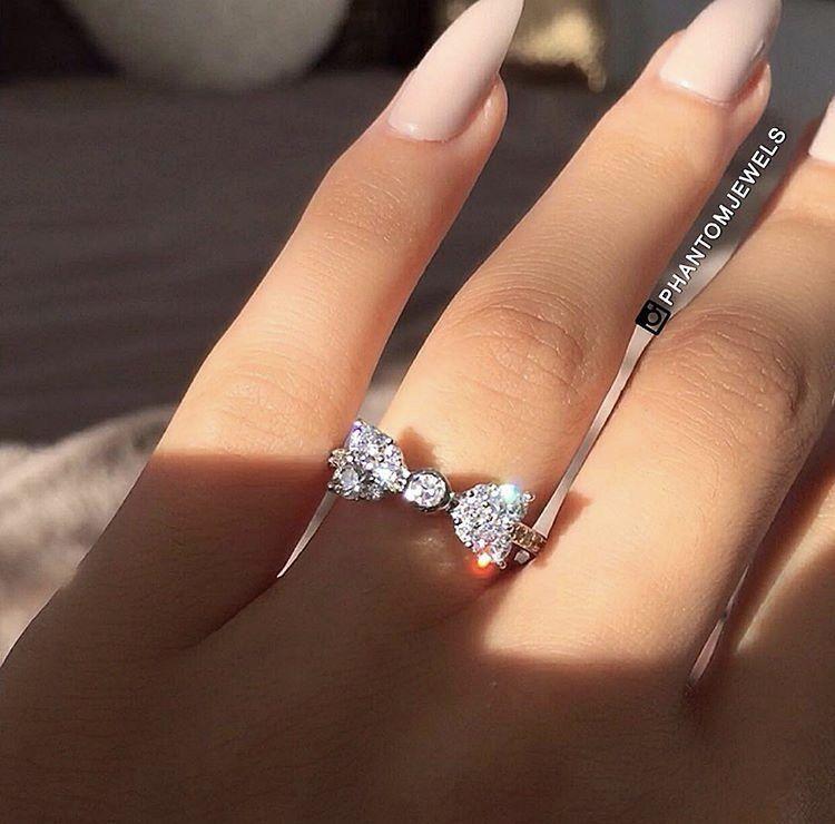 9a2d209bb92df Bow Shaped Diamond Ring ✨ Follow CindyLBB✨ Instagram: @cindyslbb ...