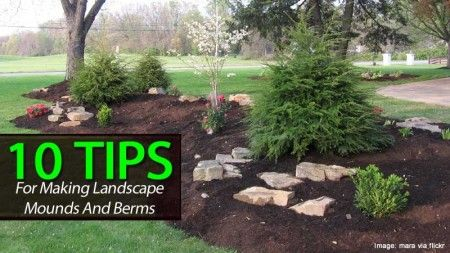 10 Berm Landscaping Tips Learn How To Build A Berm Outdoor Landscaping Backyard Landscaping Front Yard Landscaping