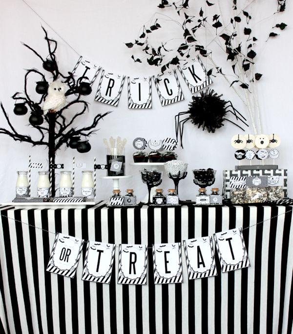 Black  White Halloween Decorations Decorating at - halloween decoration printables