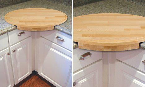 Pinning as a reminder to put a lazy Susan in the back corner counter
