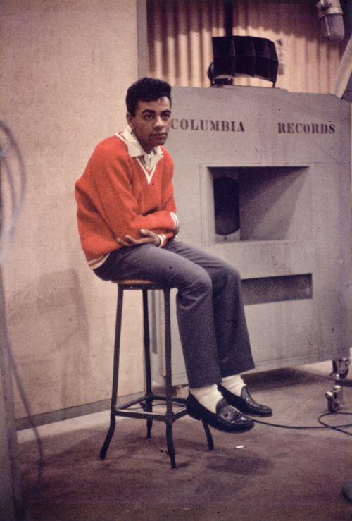 Johnny Mathis Brother Clem | Johnny Mathis in New York City, 1956. His first sessions at Columbia ...