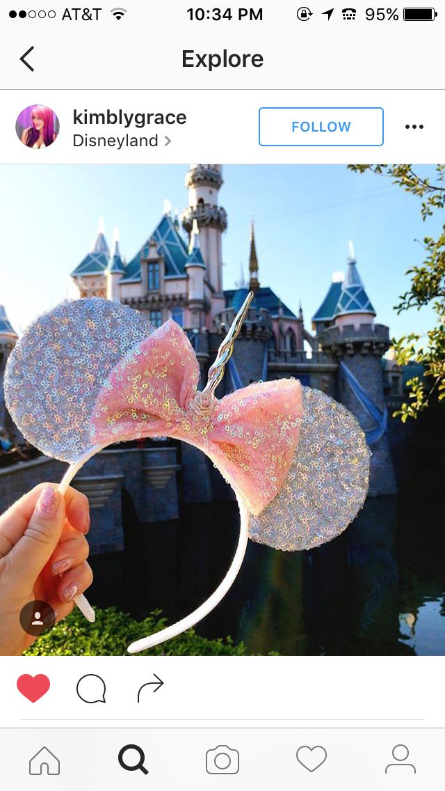 b677b8c9dbc4 Unicorn mickey ears | Disney | Disney mickey ears, Disneyland ears ...