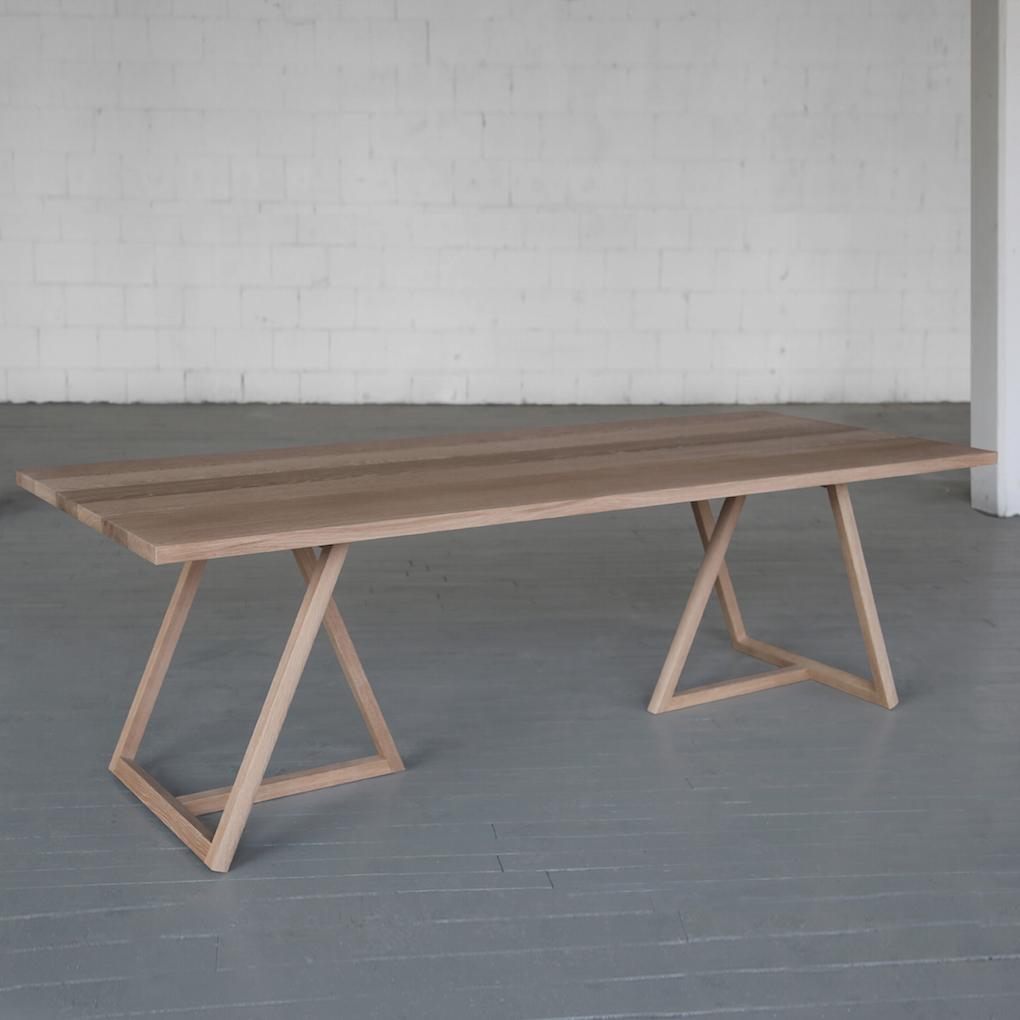 Thales wood table tischbeine wohnung pinterest for Schreibtisch thales