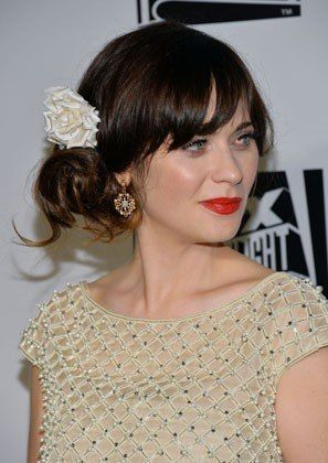 Zooey Deschanel tops off a low side bun with a romantic flower accessory. #lowsidebuns Zooey Deschanel tops off a low side bun with a romantic flower accessory. #lowsidebuns Zooey Deschanel tops off a low side bun with a romantic flower accessory. #lowsidebuns Zooey Deschanel tops off a low side bun with a romantic flower accessory. #lowsidebuns Zooey Deschanel tops off a low side bun with a romantic flower accessory. #lowsidebuns Zooey Deschanel tops off a low side bun with a romantic flower ac #weddingsidebuns